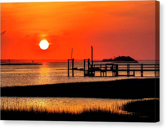 Sunrise - Bogue Sound Canvas Print