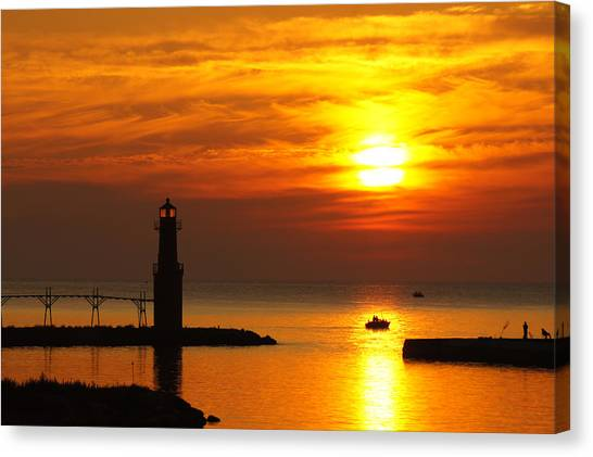 Sunrise Brushstrokes Canvas Print