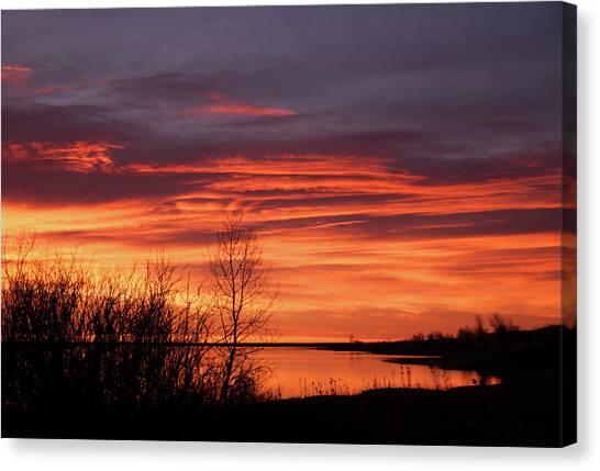 Lake Sunrises Canvas Print - Sunrise By The Lake by Kristin Davidson