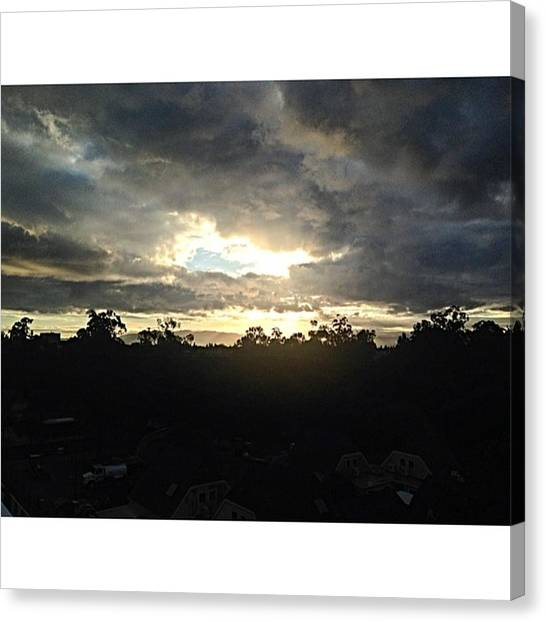 Stanford University Canvas Print - #sunrise #clouds #sky #newday #stanford by Vadim Shamilov