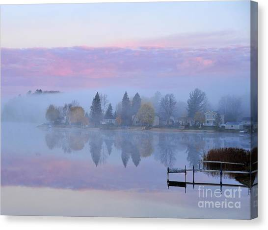 Sunrise Comes To Stoneledge Lake Canvas Print