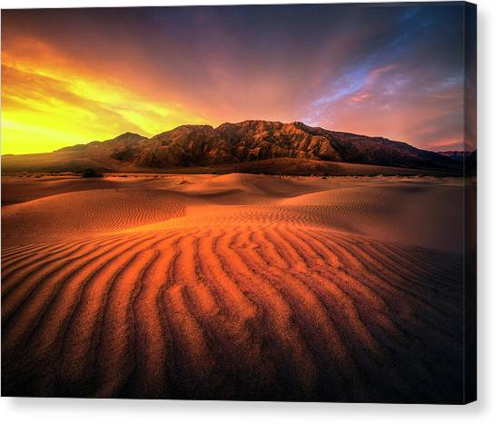 Sunrise-death Valley Canvas Print
