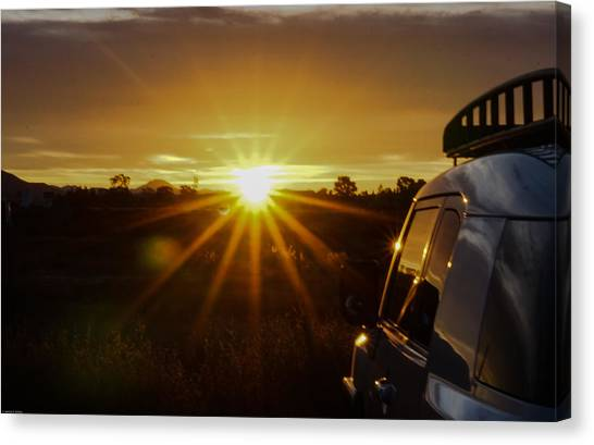 Sunrise And My Ride Canvas Print
