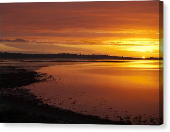 Sunrise Dornoch Firth Scotland Canvas Print