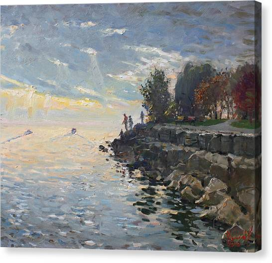 Ontario Canvas Print - Sunrise Fishing by Ylli Haruni