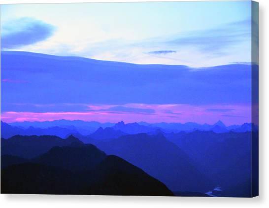 Sunrise From Pilchuck Summit Canvas Print