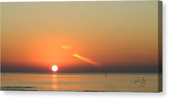 Sunrise Gulfport Mississippi Canvas Print