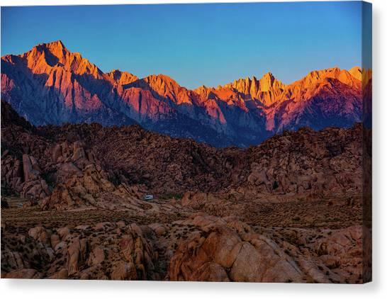 Sunrise Illuminating The Sierra Canvas Print