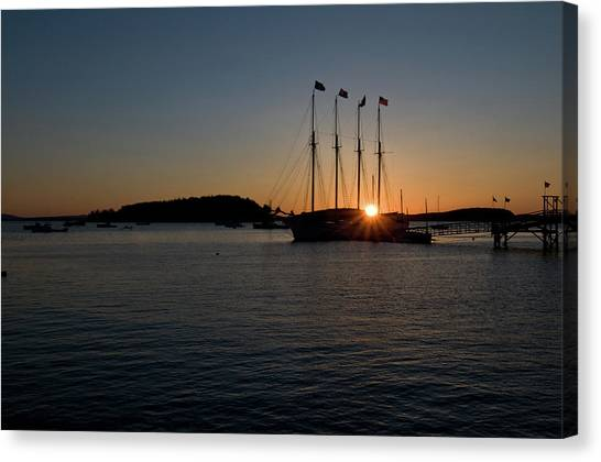 Sunrise In Bar Harbor Canvas Print
