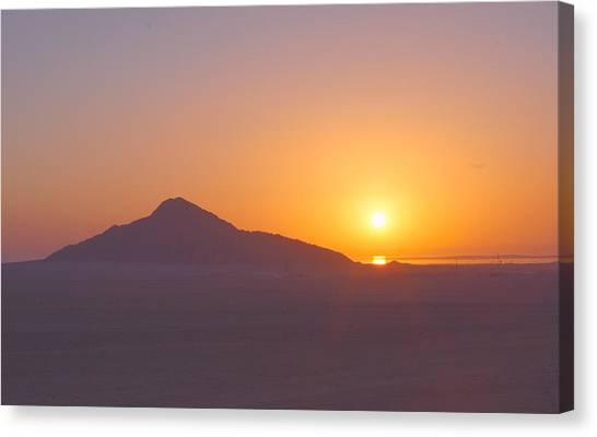 Desert Sunrises Canvas Print - Sunrise In Desert Art by Elena Kovalenko