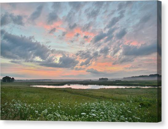 Prairie Sunrises Canvas Print - Sunrise In Glacial Park by Ray Mathis