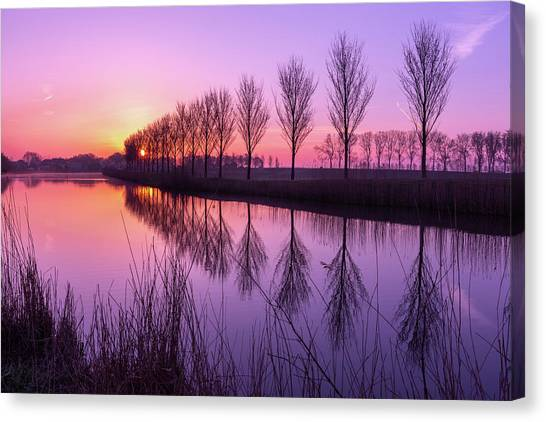 Sunrise In Holland Canvas Print