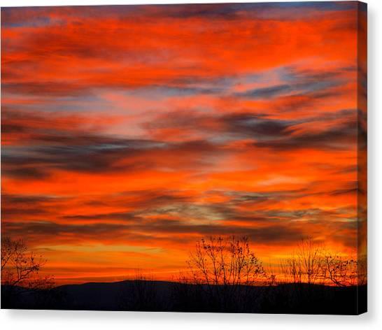 Sun Set Canvas Print - Sunrise In Ithaca by Paul Ge