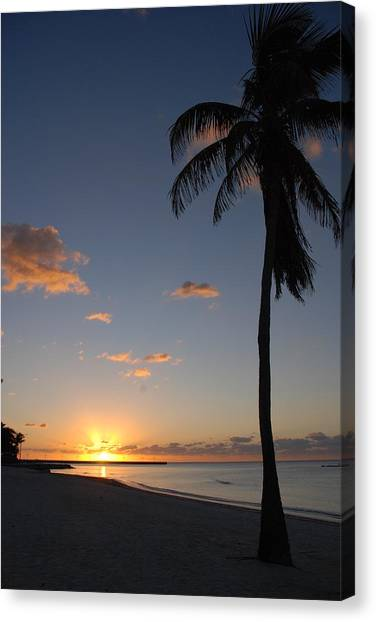 Sunrise In Key West 2 Canvas Print