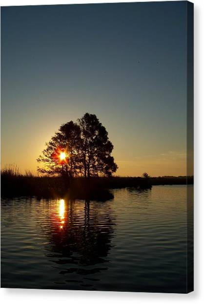Sunrise In Moyock Nc Canvas Print