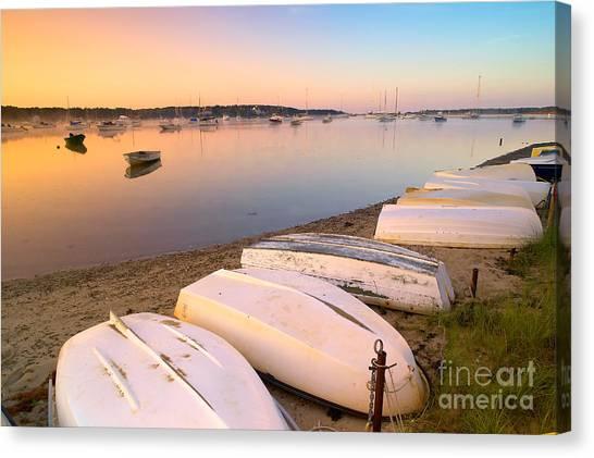 Ocean Sunrises Canvas Print - Sunrise In Osterville Cape Cod Massachusetts by Matt Suess