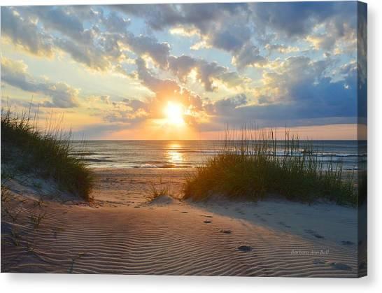 Sunrise In South Nags Head Canvas Print