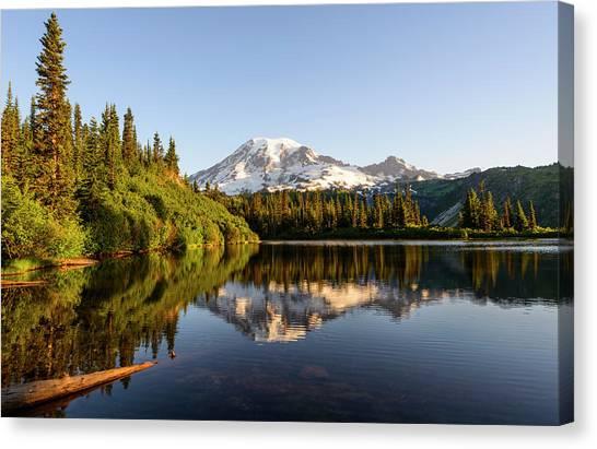 The Bench Lake Canvas Print