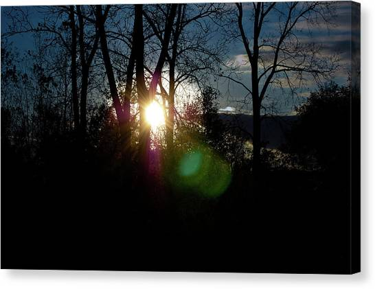 Sunrise In The Fall Canvas Print by RonSher Brooks