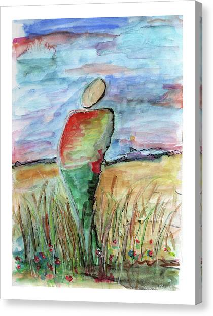 Sunrise In The Grasses Canvas Print