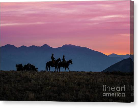 Sunrise In The Lost River Range Wild West Photography Art By Kay Canvas Print