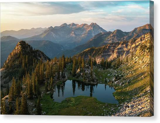 Sunrise In The Wasatch Canvas Print