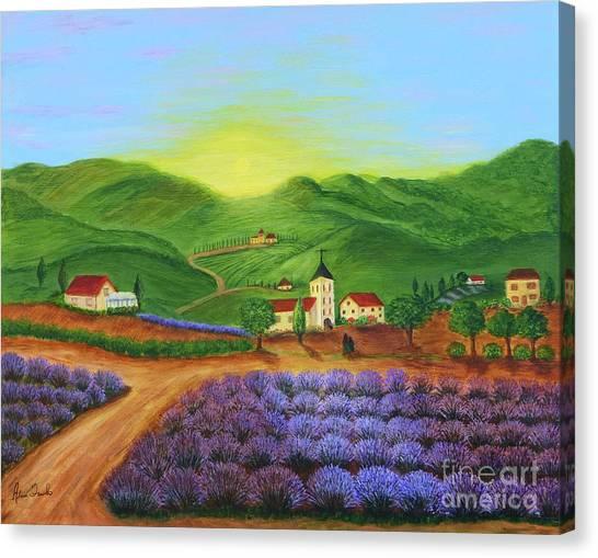 Sunrise In Tuscany Canvas Print