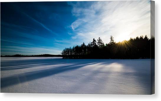 Sunrise In Winter Canvas Print