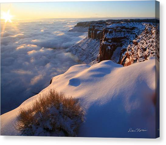 Sunrise Inversion At Buck Canyon Overlook Canvas Print