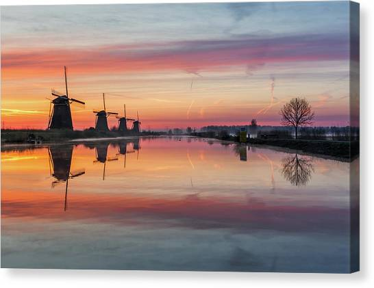Sunrise Kinderdijk Canvas Print