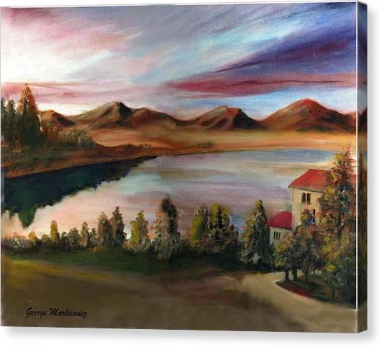 Sunrise Lake Canvas Print by George Markiewicz