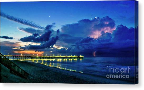 Sunrise Lightning Canvas Print