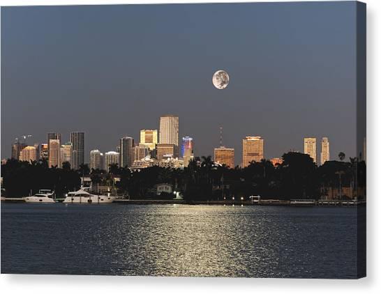 Moonrise Over Miami Canvas Print