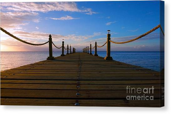 Sunrise Morning Bliss Pier 140a Canvas Print