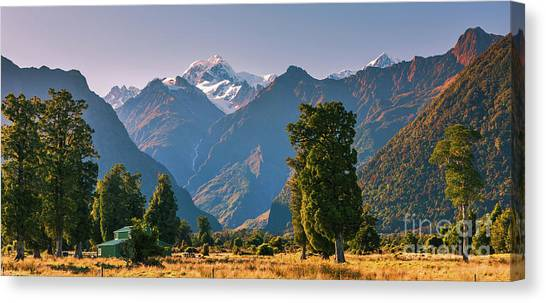 Fox Glacier Canvas Print - Sunrise New Zealand by Henk Meijer Photography