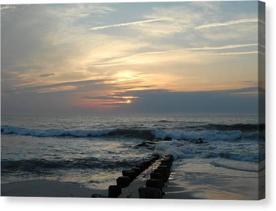 Sunrise Ocean 50 Canvas Print by Joyce StJames