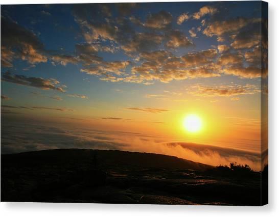 Sunrise On Cadillac Mountain Canvas Print