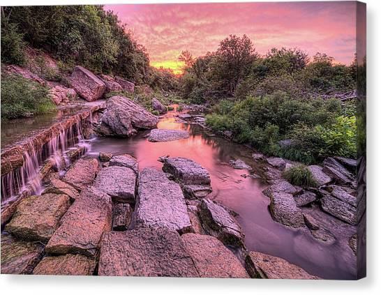 Sunrise On Deep Creek Canvas Print by JC Findley