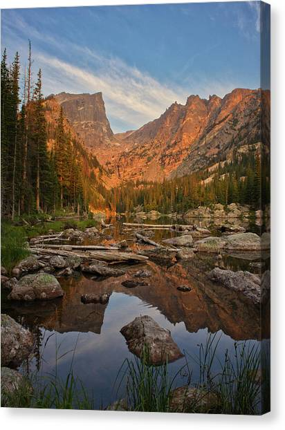 Sunrise On Dream Lake Canvas Print