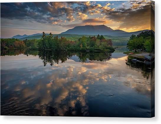 Katahdin Canvas Print - Sunrise On Mount Katahdin by Rick Berk