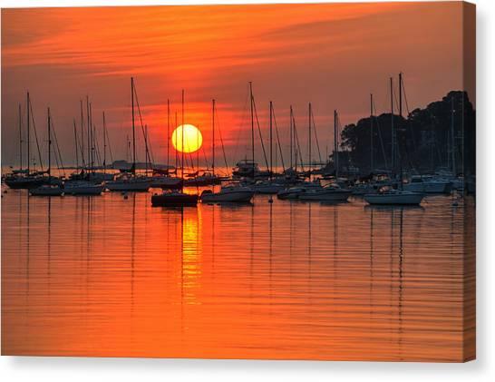Sunrise On Salem Harbor Salem Ma Canvas Print