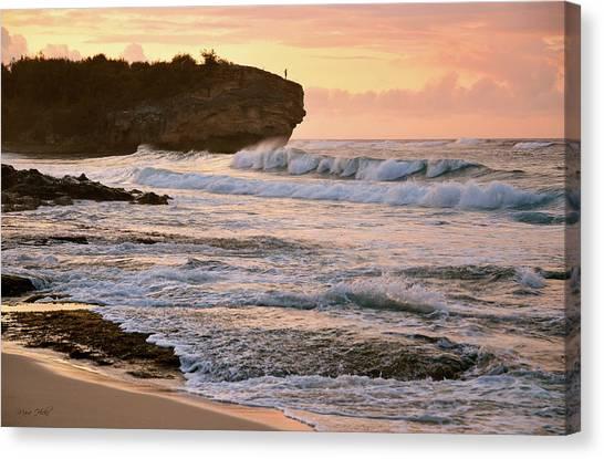 Sunrise On Shipwreck Beach Canvas Print