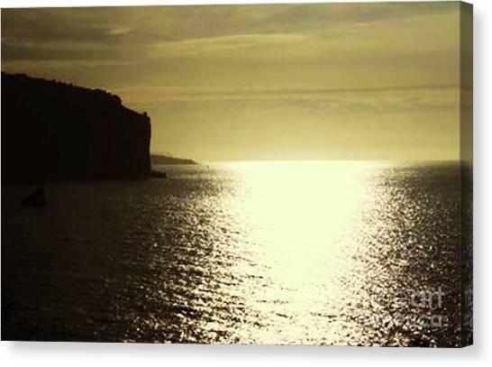 Sunrise On The Almalfi Coast Canvas Print