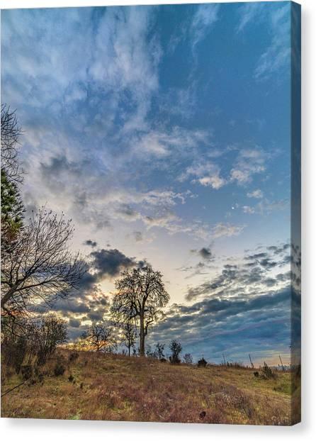 Sunrise On The Back Hill Canvas Print