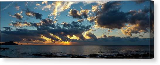 Sunrise On The French Riviera Canvas Print