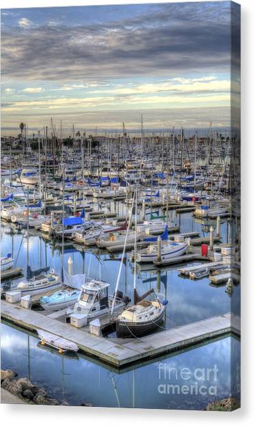 Sunrise On The Harbor Canvas Print