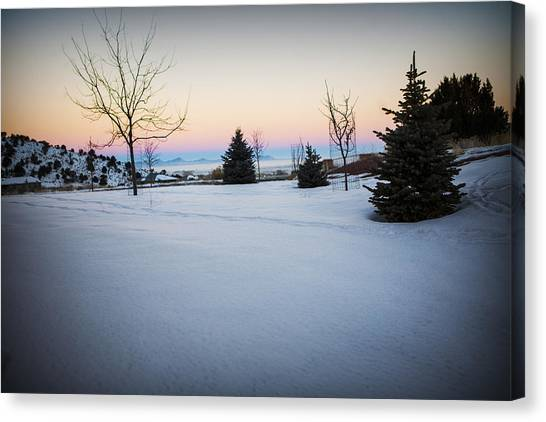 Sunrise On The Mountain Canvas Print
