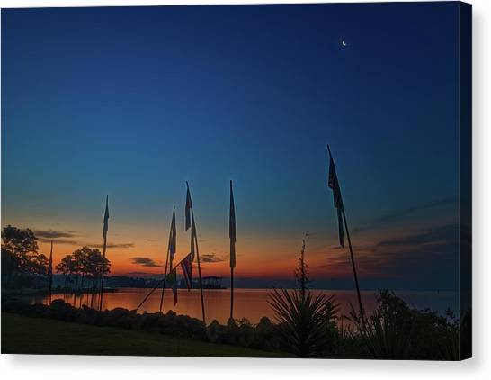 Sunrise On The Neuse 1 Canvas Print