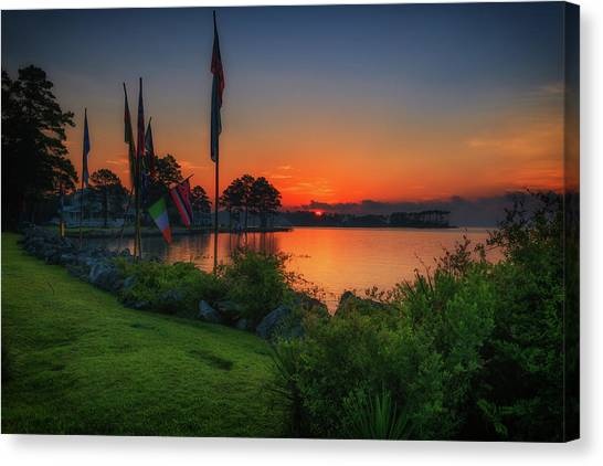 Sunrise On The Neuse 2 Canvas Print