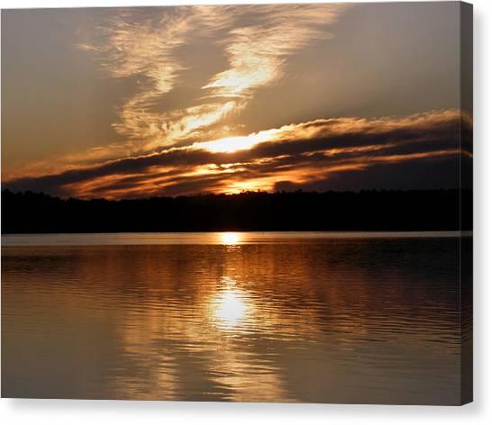 Sunrise On The Turtle Flambeau Flowage Canvas Print
